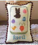 April What's In Your Jar cross stitch chart Nee... - $5.00