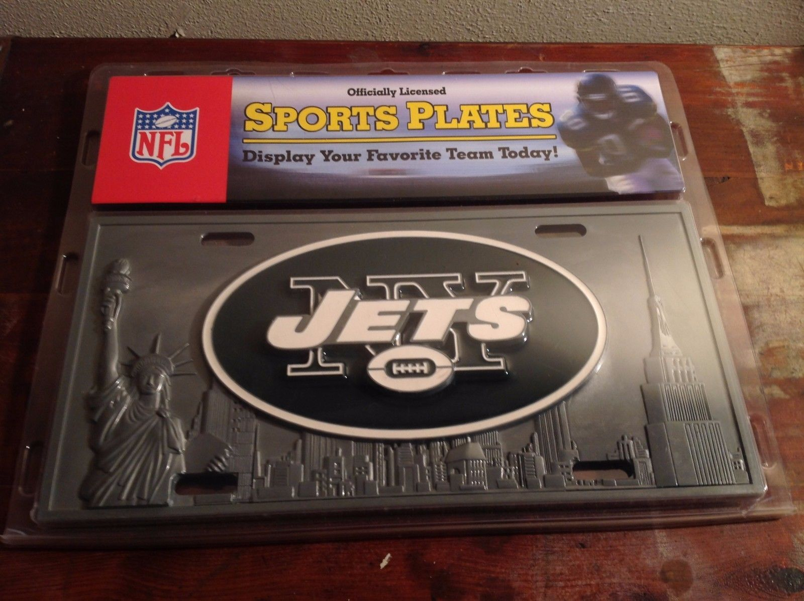 New Officially Licensed NY Jets Sports Plate For Automobile 3D Relief