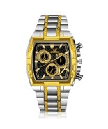 Gold & Silver Color Luxury Full Steel Men's Watch - $11.88