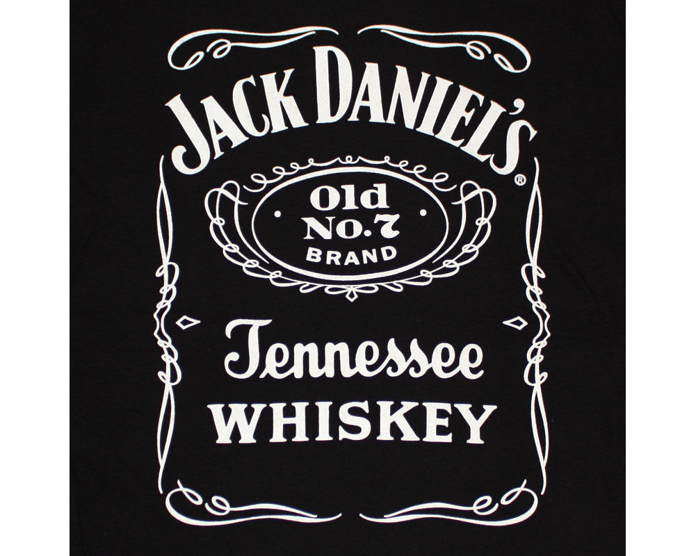 Jack Daniel's Old No. 7 Whiskey Logo Graphic TShirt Black