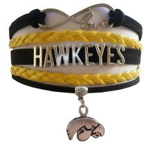 University of Iowa Hawkeyes Fan Shop Infinity Bracelet Jewelry - $12.99