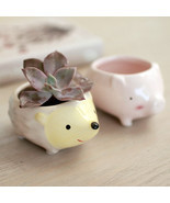 Kawaii Little Animals Ceramic Flowerpot Pig Ele... - $6.56