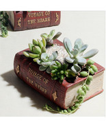 Vintage Book Pot Creative Flower Fairy Garden C... - £21.64 GBP