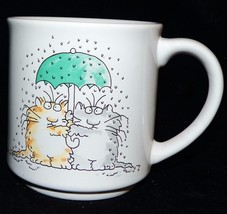 Vintage Sandra Boynton Someday Rich and Famous Kitty Cats in Rain Coffee... - $29.99