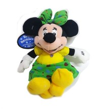 Disney Collectible Minnie Mouse Plush Pal with Faux Sapphire Austrian Crystal Se - $31.49