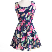 Women's Dress Sexy Flower Print Slim Mini Dress Women Casual Size S - $5.21
