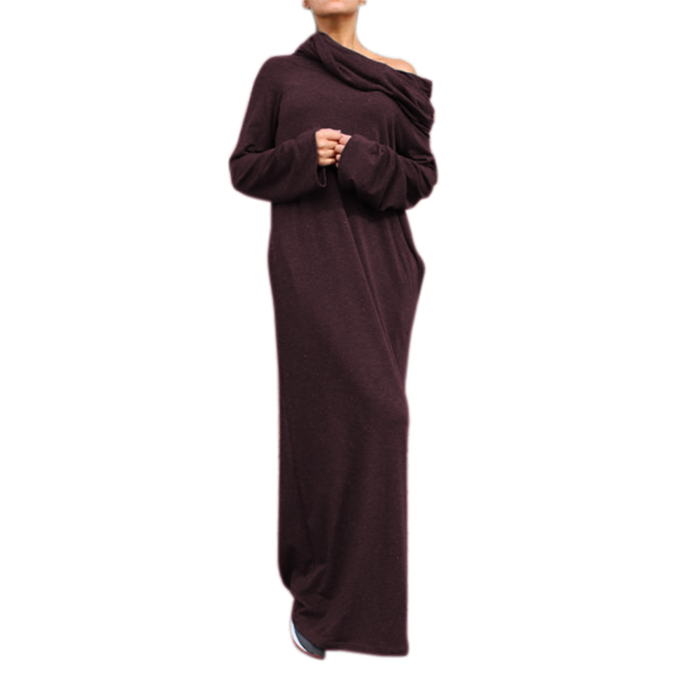 Lf dresses new sexy women dress vestidos off shoulder hooded shirt maxi long party casual autumn