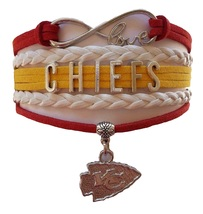 Kansas City KC Chiefs Football Fan Shop Infinity Bracelet Jewelry - $9.99