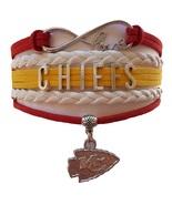 Kansas City KC Chiefs Football Fan Shop Infinity Bracelet Jewelry - $9.99