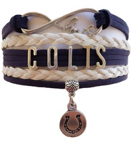 Indianapolis Colts Football Fan Shop Infinity Bracelet Jewelry - $9.99