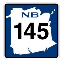 New Brunswick Route 145 Sticker Decal R4796 Canada Highway Route Sign Canadian - $1.45+