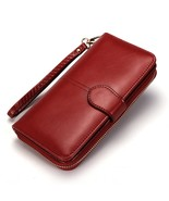 Women Wallet Leather Card Coin Holder Money Clip Long Clutch Phone Wrist... - $18.28