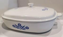 Vintage Corning Ware (Pyroceram) Blue Cornflower B-24 Baking Casserole Dish - $95.00