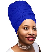 30 Colors| Novarena 1-4 Pc Solid Color Head Wrap Stretch Long Hair Scarf Turban