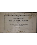 The International Box of Metal Puzzles No.1.  Made in England Vintage - $78.35