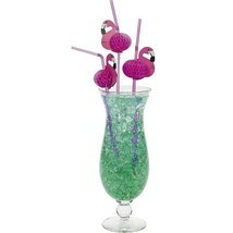48 Pink Flamingo Bendy Straws - Tiki / Luau Beach Party Bar Supplies/Tab... - £7.47 GBP