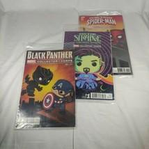 Marvel Collector Corps Comic Lot Spiderman #1 Doctor Strange #1 Black Panther #1 - $19.79