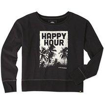 Life is Good Happy Hour Palms Womens Go-to Sweatshirt (Black), X-Small - $15.83