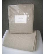 Pottery Barn Peyton Drape Rideau Curtain Oat/Oatmeal 50x108 - $139.95