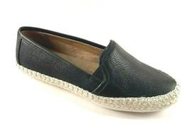 Aerosoles Lets Drive Black Leather Espadrilles Slip On Flat  Loafers - $69.00