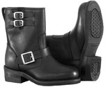 RIVER ROAD TWIN BUCKLE ENGINEER BOOTS BLACK SIZE WOMENS ~ NEW IN BOX