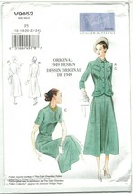 Vogue Vintage Model Pattern 9052 Fitted Jacket & Belted Dress 1940s Choo... - $12.99