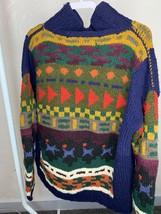 Artesanias Folkloricas Ecuador 100% Wool Zip Up Jacket Women's Sweater A35 - $70.11