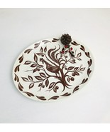 Homer Laughlin Platter, Chanticleer Brown Rooster, Dura-Print 13.5 x 11 inches - $45.00