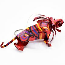 Handcrafted Painted Colorful Recycled Aluminum Tin Can Lion Ornament Zimbabwe image 5