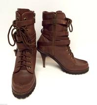 ASH Brown Wrap Strap Size 8 1/2 Ankle Pump 39 Heel Boots 8.5 - $44.25