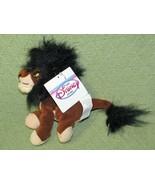LION KING SCAR BEAN BAG PLUSH WITH HANG TAG DISNEY STORE STUFFED ANIMAL ... - $17.82