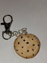 Chocolate Chip Cookie Keychain Accessory Food Charm Cookie - $7.50