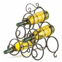 Wrought Iron Scrollwork 6-Bottle Wine Rack - $17.48