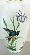 Meadowland Bird Vase By Basil Ede 1980 Franklin Porcelain  - $46.75