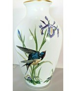 Meadowland Bird Vase By Basil Ede 1980 Franklin Porcelain  - £33.85 GBP