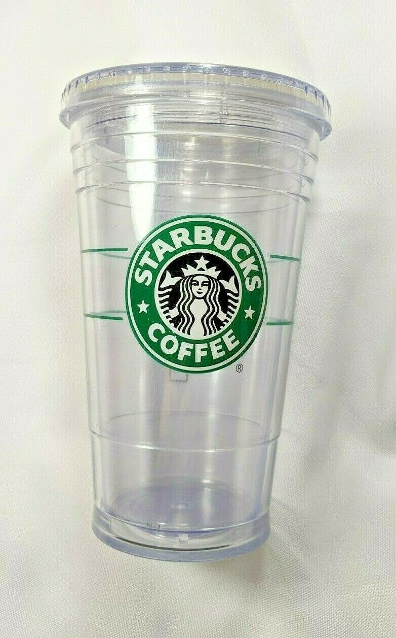 Primary image for STARBUCKS Clear BPA FREE Cup GRANDE Tumbler Double Walled 16oz Glass Mermaid