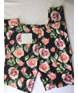 infinity raine leggings Women Stretch Floral Pink Roses One Size Tight Fit - $23.38