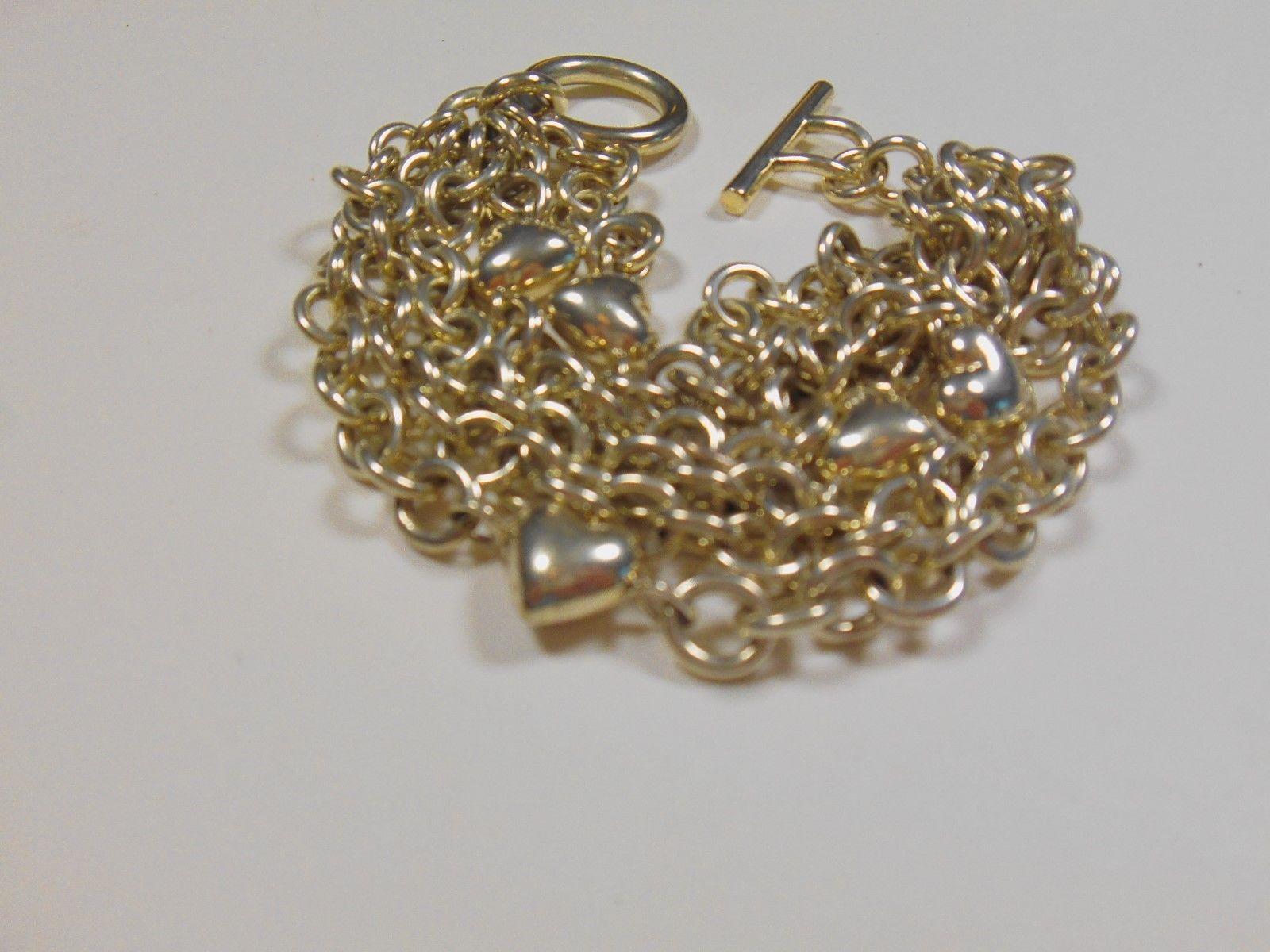 d57038ffa TIFFANY & Co Puffed Heart Multi-Strand Toggle Bracelet 8