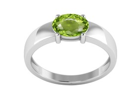 Royal Stylish Jewelry Peridot Solid 1.20 Ct Gemstone Silver Ring Sz 6 SH... - $15.88