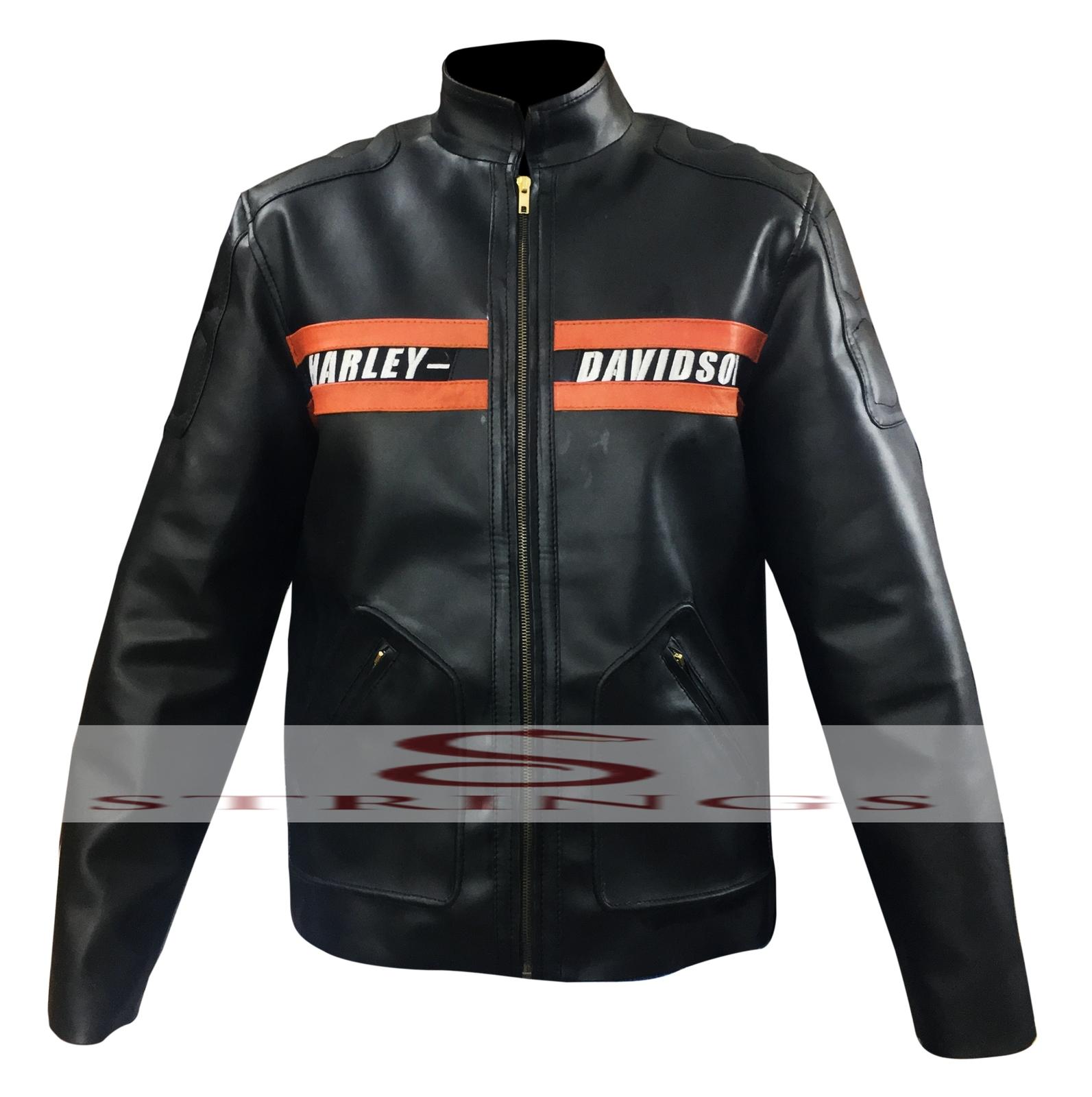 Used leather motorcycle jacket