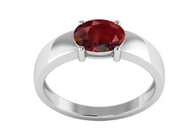 1.40 Ct Special Shiny Garnet Gemstone 925 Sterling Silver Ring Sz 6.5 SH... - $16.55