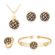 HC Fashion Tortoise Pendant Kids 4Pcs Necklace Sets Cute Round Crystal B... - $13.24