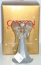Angel Silver Glass Glitter Horn Third Collectors Series Carlton Cards Re... - $49.95