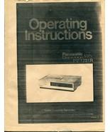 Panasonic Model PV-1231R VCR Instruction Manual - $4.94