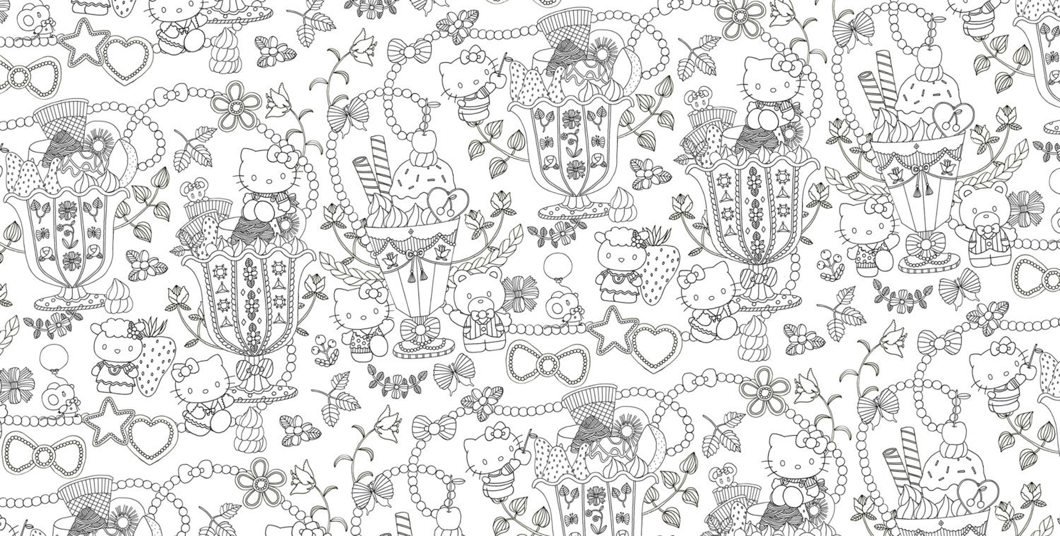 Hello kitty and friends smile coloring book sanrio livre de coloriage other children young - Coloriage hello kitty ...