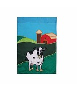 Cow & Red Barn Garden Flag 12 Inches X 18 Inches - In the Breeze 4460 - $14.95
