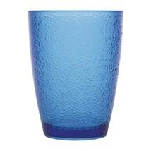 6X Kristallon Polycarbonate Tumbler Pebbled Blue 275ml Commercial Restau... - $35.22