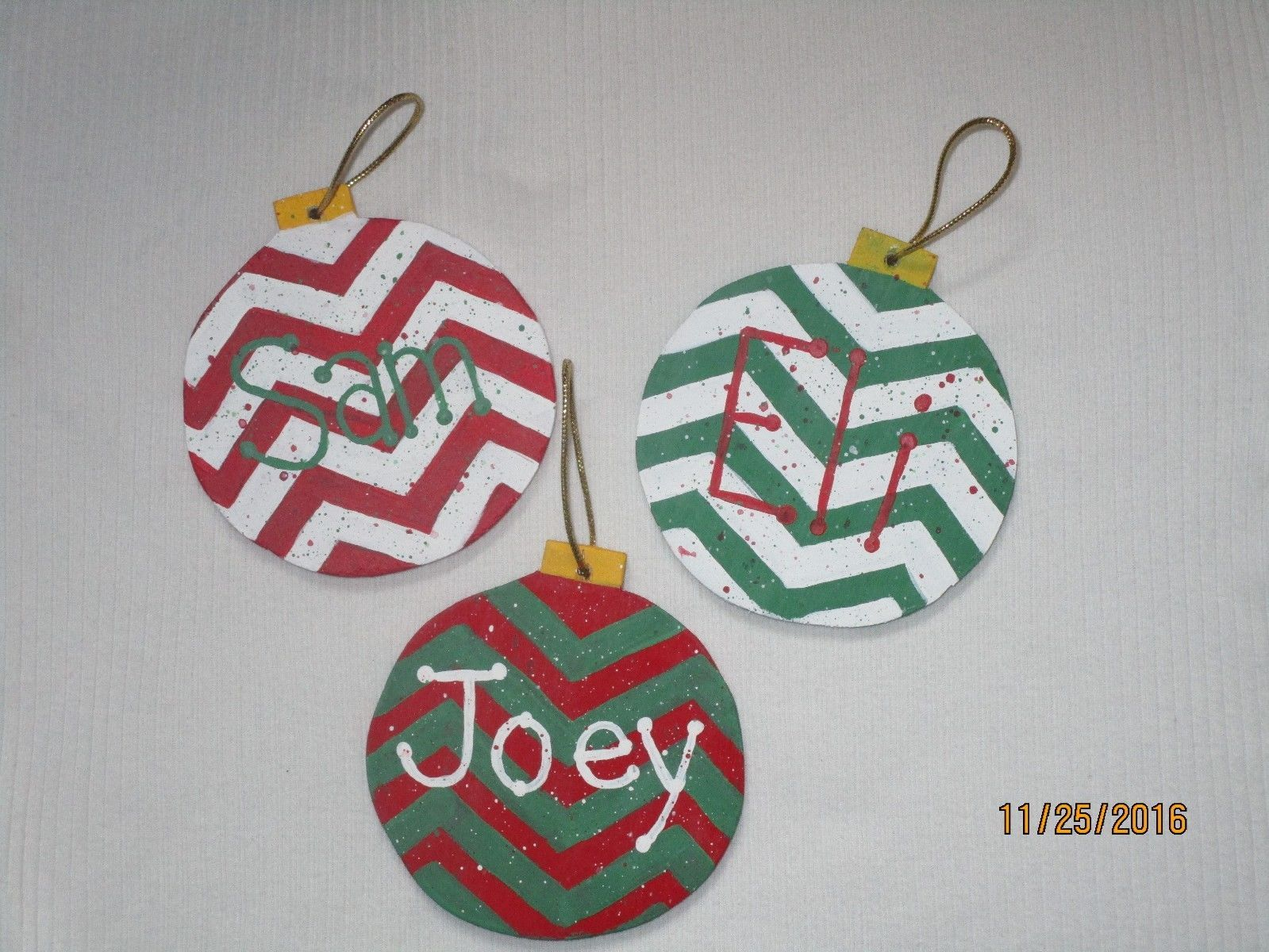 Hand made wooden ornament MADE with LOVE in USA Personalized