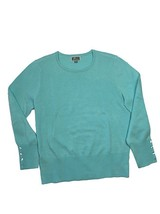 JM Collection Crew-Neck, Buttons at end of sleeves Sweater, XL - $24.26