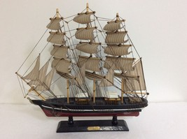 """VINTAGE 19"""" LONG HAND CRAFTED WOODEN MODEL SHIP """"THE 1869  CUTTY SHARK"""" - $34.25"""